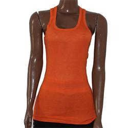 Docal Orange Cotton Ladies Tank Top