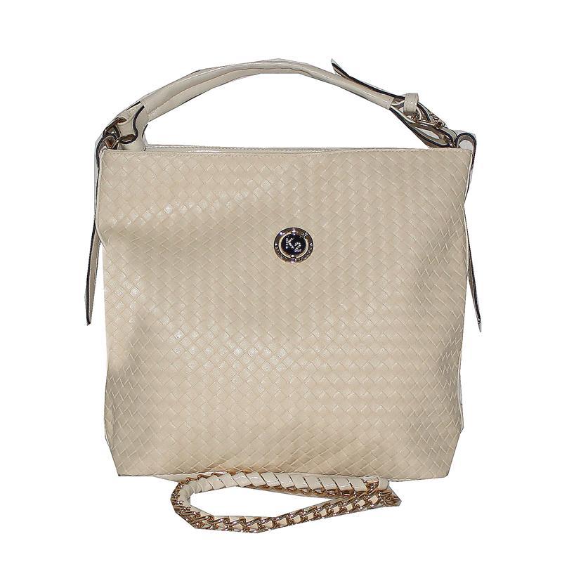 Kelbin Cream Leather Ladies Handbag