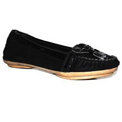 Onora Black Suede Leather Kiddies Causal Shoe