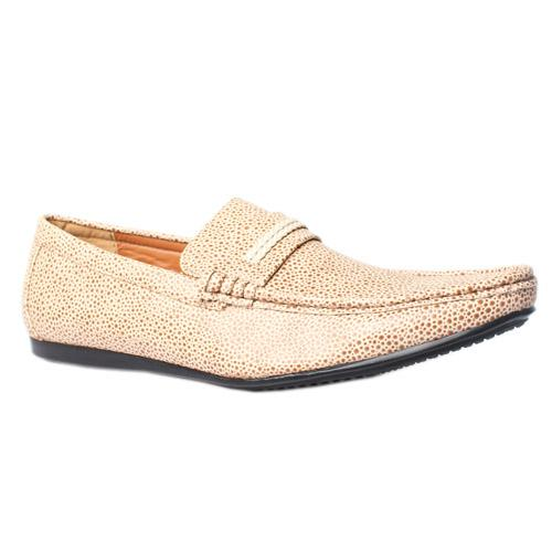 Depally Beige Leather casual Shoe