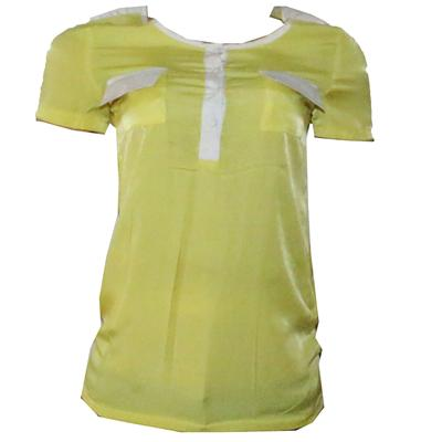 J J H F S Yellow/White Cotton Ladies Top