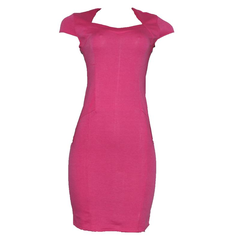 Nice Forever Pink Off Back Armless Cotton Ladies Dress