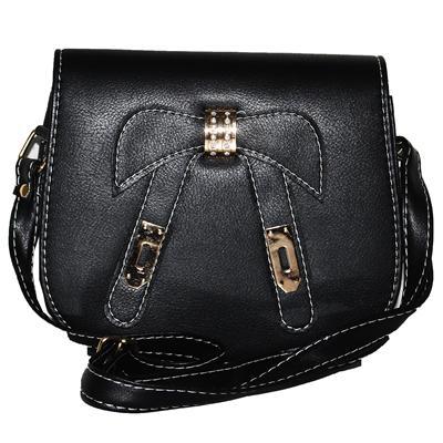 Black Leather  Ladies Slingbag