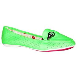 Jore Green Peforated Leather Kiddies Casual Shoe