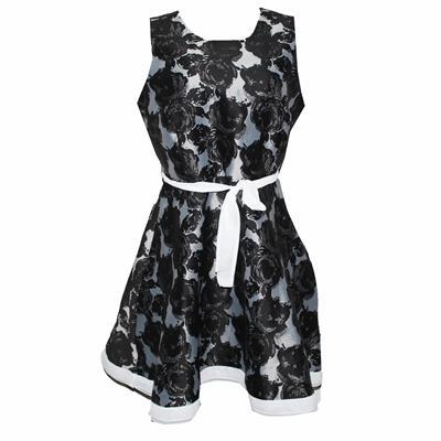 Green World Black/Gray Ladies Armless Short Skater Dress