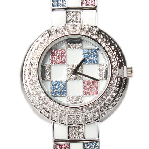Idis Silver With Multicolour Designs Stainless Steel Wrist Watch