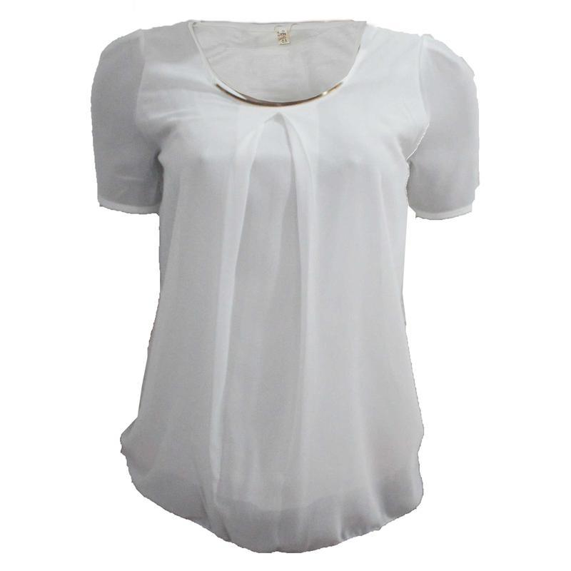 YBS White Ladies Chiffon Top