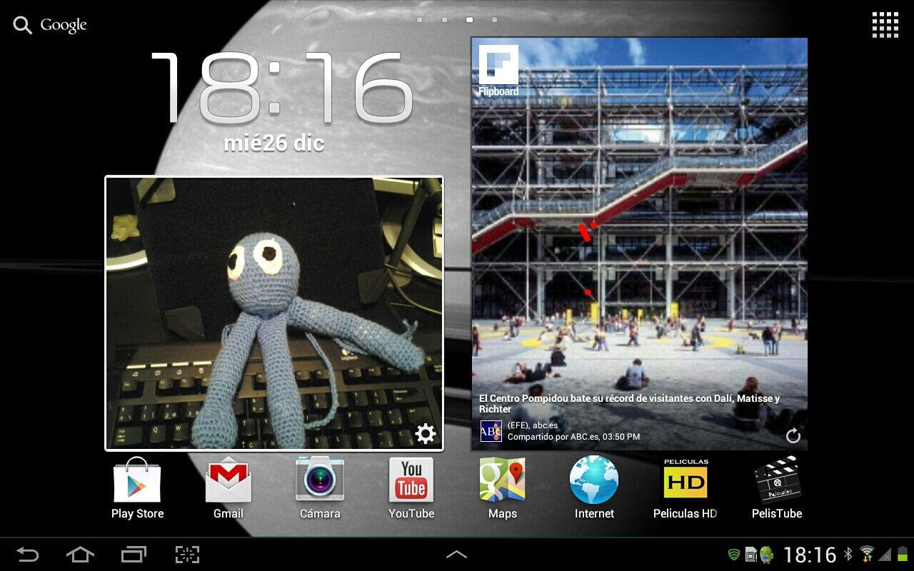 Flipboard pantallazo Widget