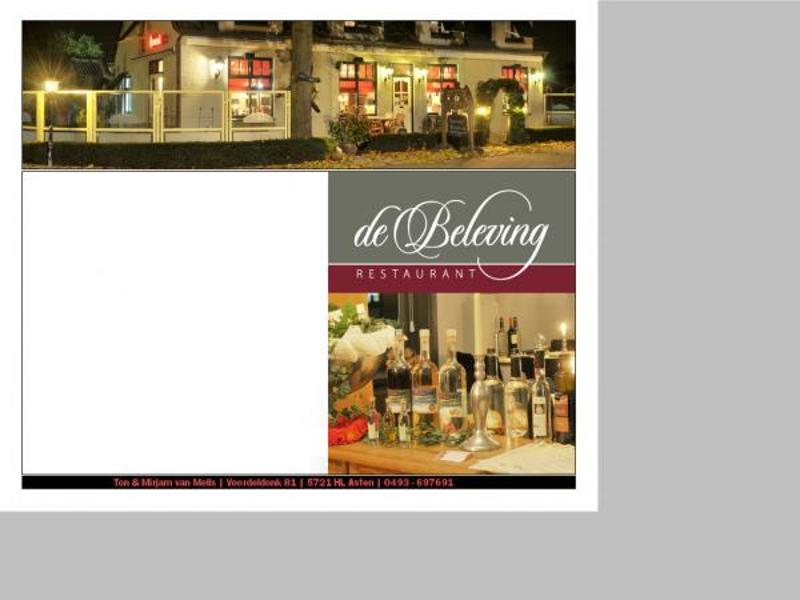 Reserveer een tafel bij Restaurant De Beleving Asten in Asten
