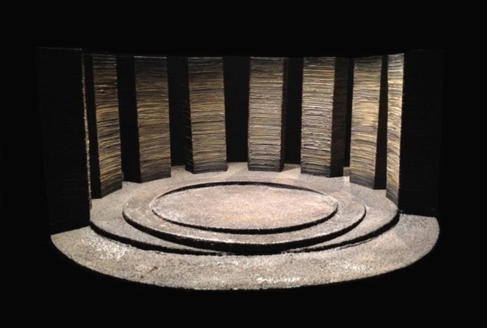 Model box for King Lear - Birmingham Repertory Theatre