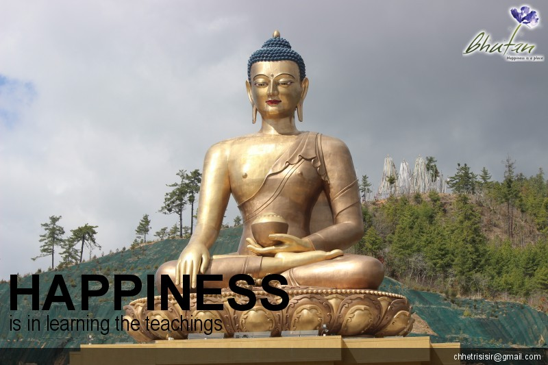 Happiness is in learning the teachings