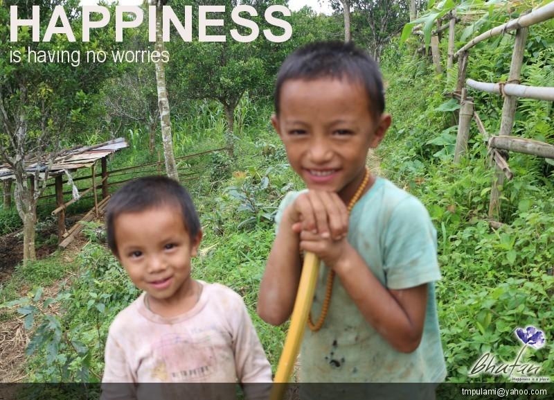 Happiness is having no worries