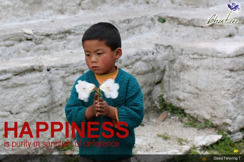 Happiness is purity in sanctum of deference