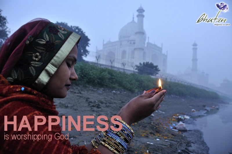 Happiness is worshipping God