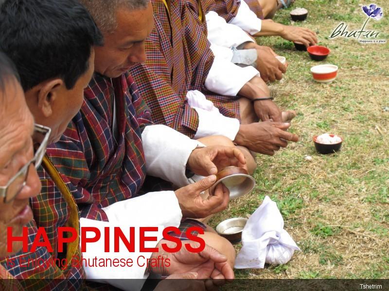 Happiness is Enjoying Bhutanese Crafts
