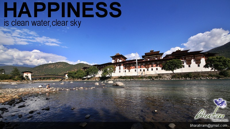 Happiness is clean water,clear sky