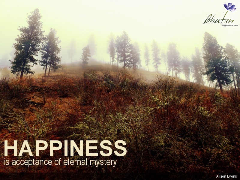 Happiness is acceptance of eternal mystery