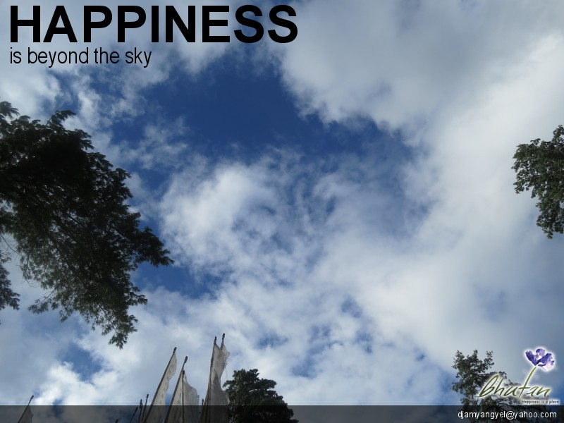 Happiness is beyond the sky