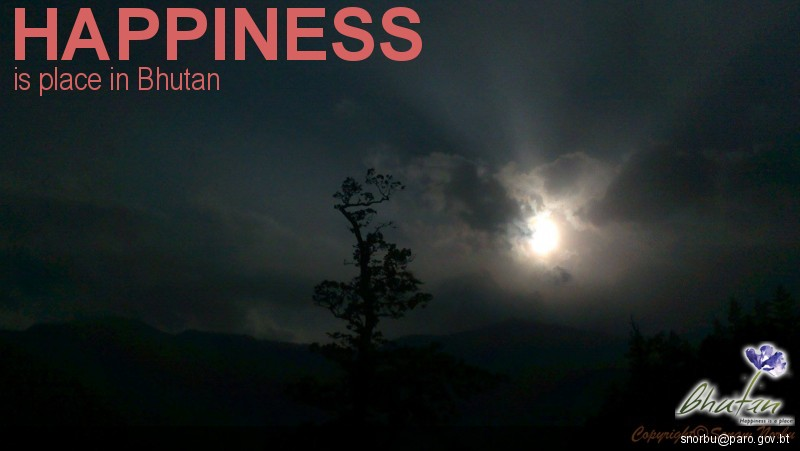 Happiness is place in Bhutan