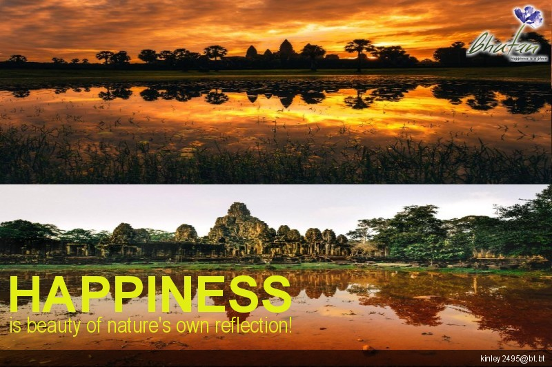 Happiness is beauty of nature's own reflection!