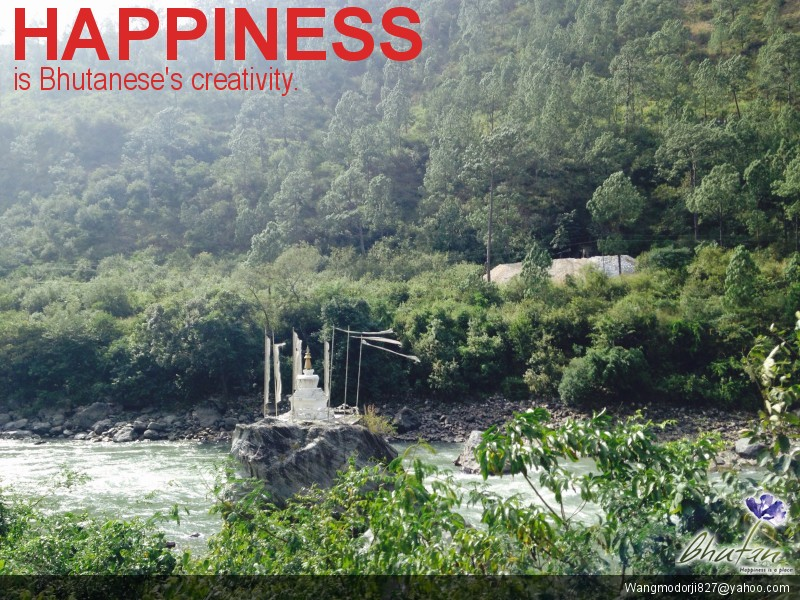 Happiness is Bhutanese's creativity.