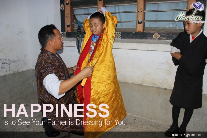 Happiness is to See Your Father is Dressing for You