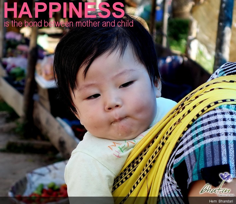 Happiness is the bond between mother and child
