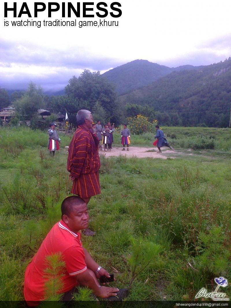 Happiness is watching traditional game,khuru