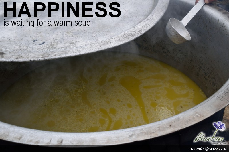 Happiness is waiting for a warm soup