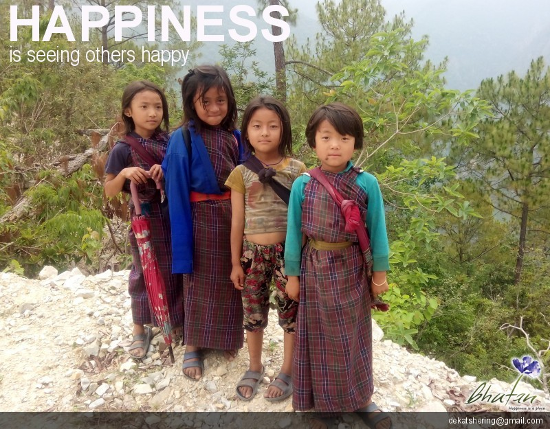 Happiness is seeing others happy