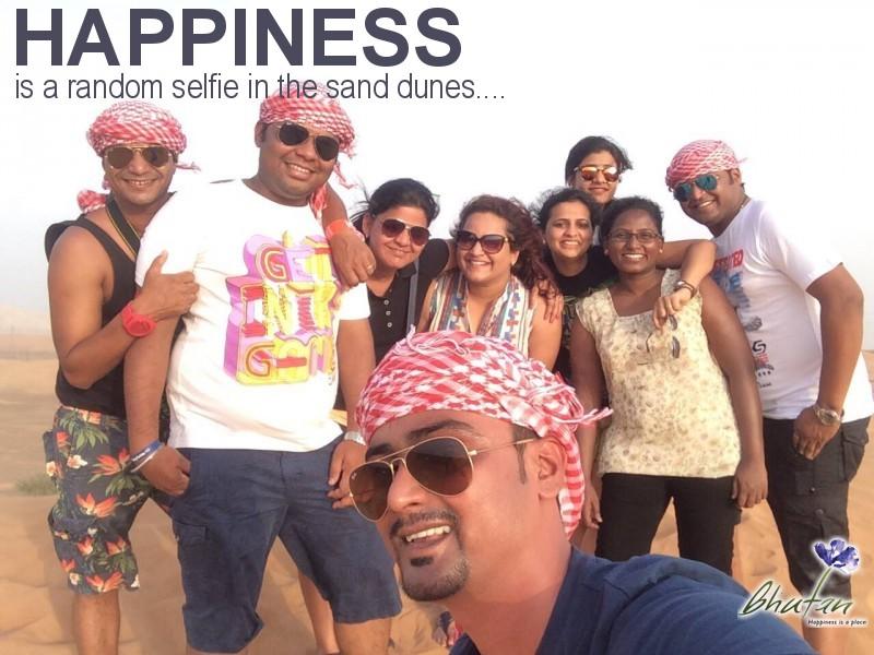 Happiness is a random selfie in the sand dunes....