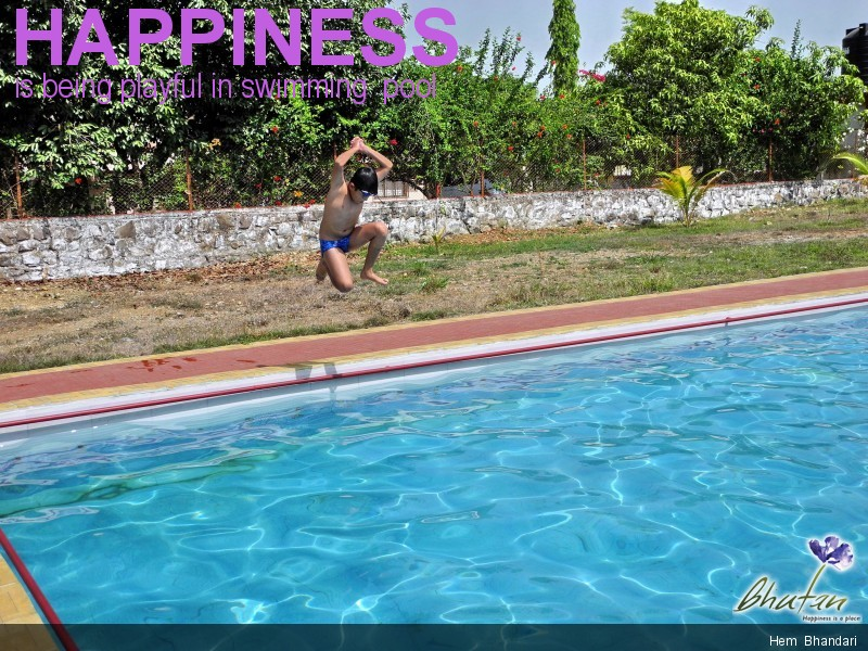 Happiness is being playful in swimming  pool