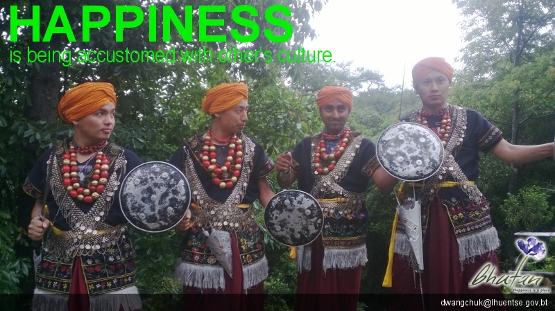 Happiness is being accustomed with other's culture.