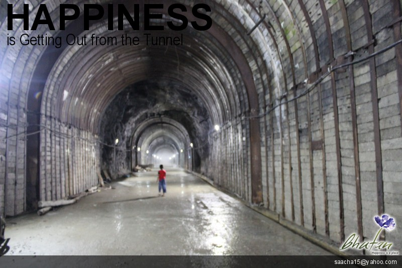 Happiness is Getting Out from the Tunnel