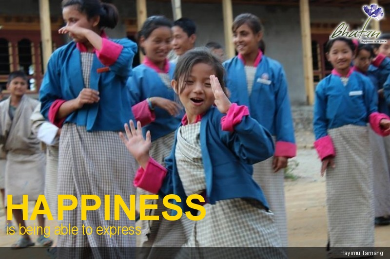 Happiness is being able to express