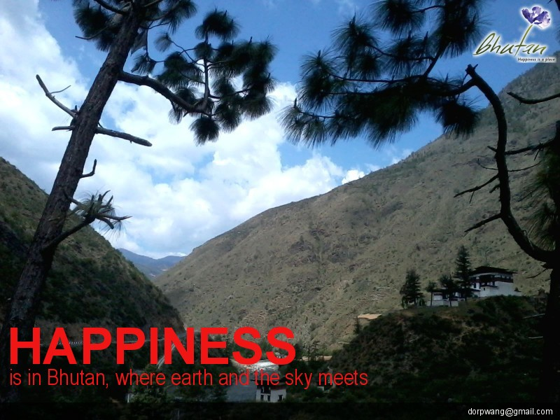 Happiness is in Bhutan, where earth and the sky meets