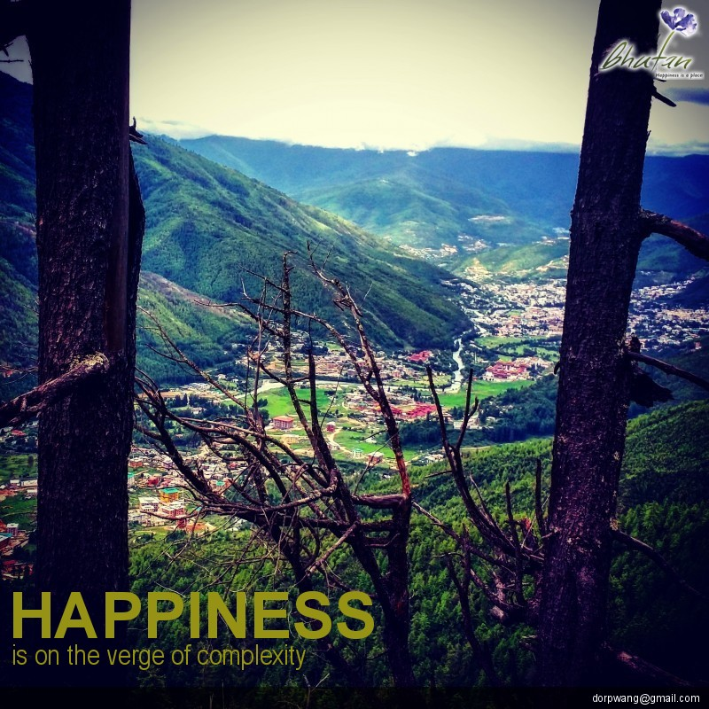 Happiness is on the verge of complexity