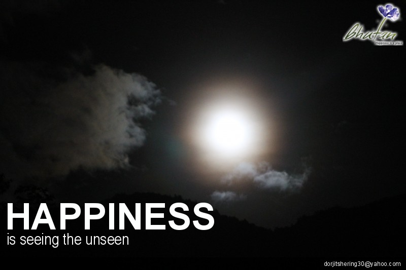 Happiness is seeing the unseen