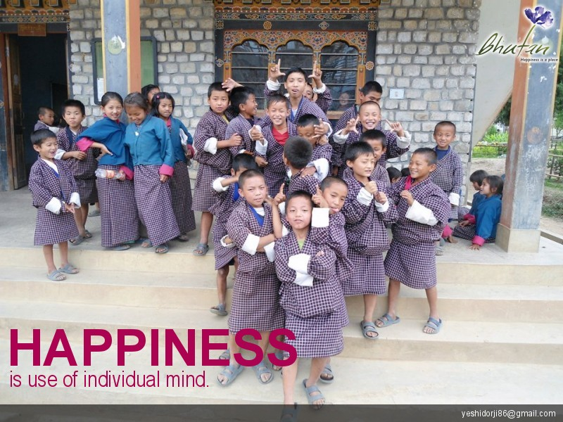 Happiness is use of individual mind.