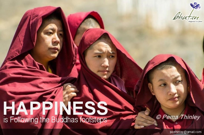 Happiness is Following the Buddhas footsteps