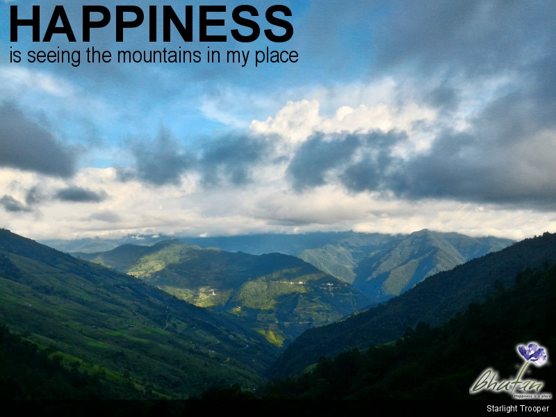 Happiness is seeing the mountains in my place