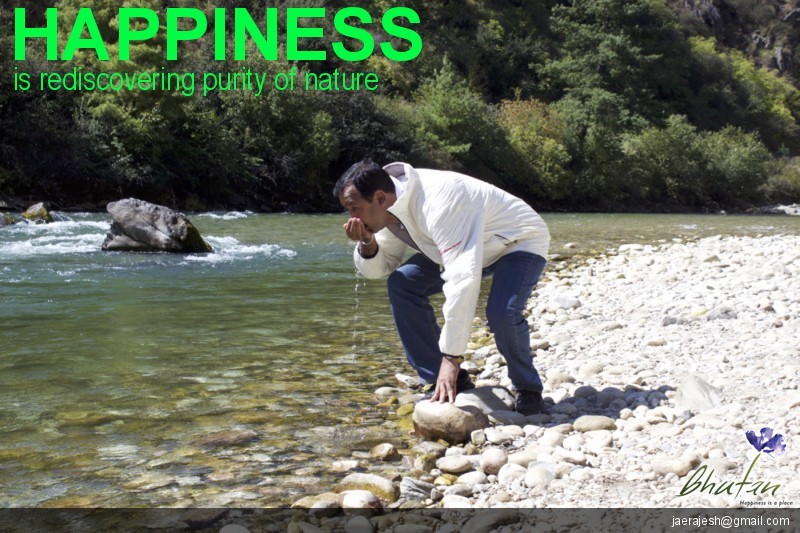 Happiness is rediscovering purity of nature