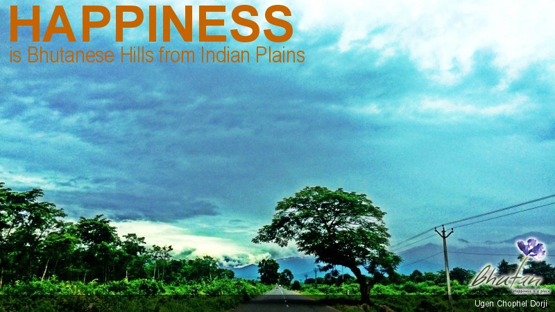 Happiness is Bhutanese Hills from Indian Plains