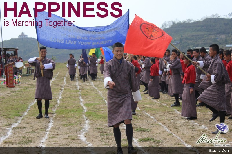 Happiness is Marching Together
