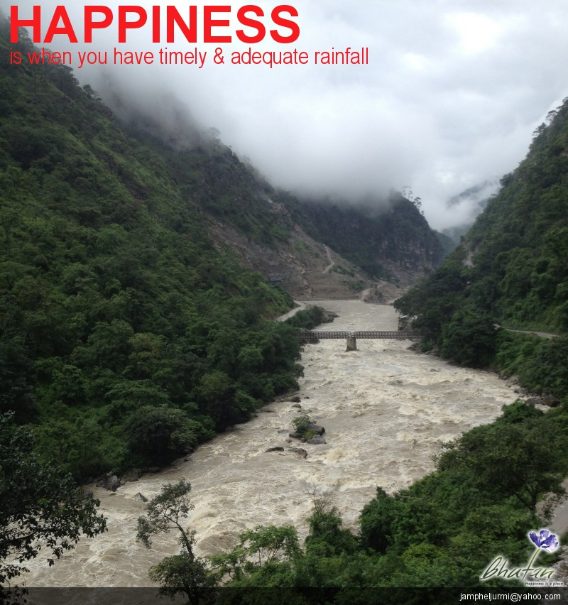 Happiness is when you have timely & adequate rainfall