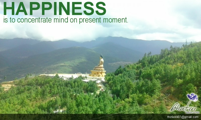 Happiness is to concentrate mind on present moment.