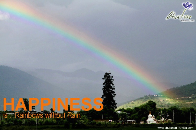 Happiness is .. Rainbows without Rain