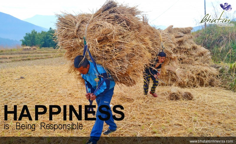 Happiness is ..Being  Responsible