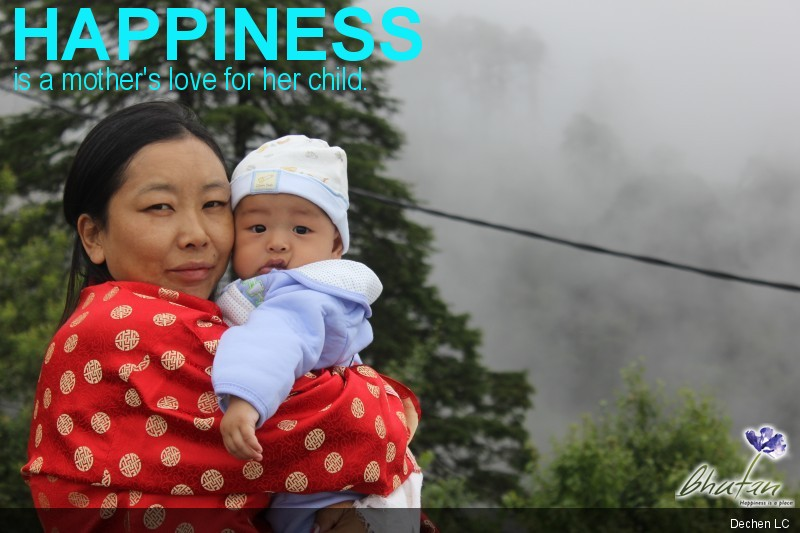 Happiness is a mother's love for her child.