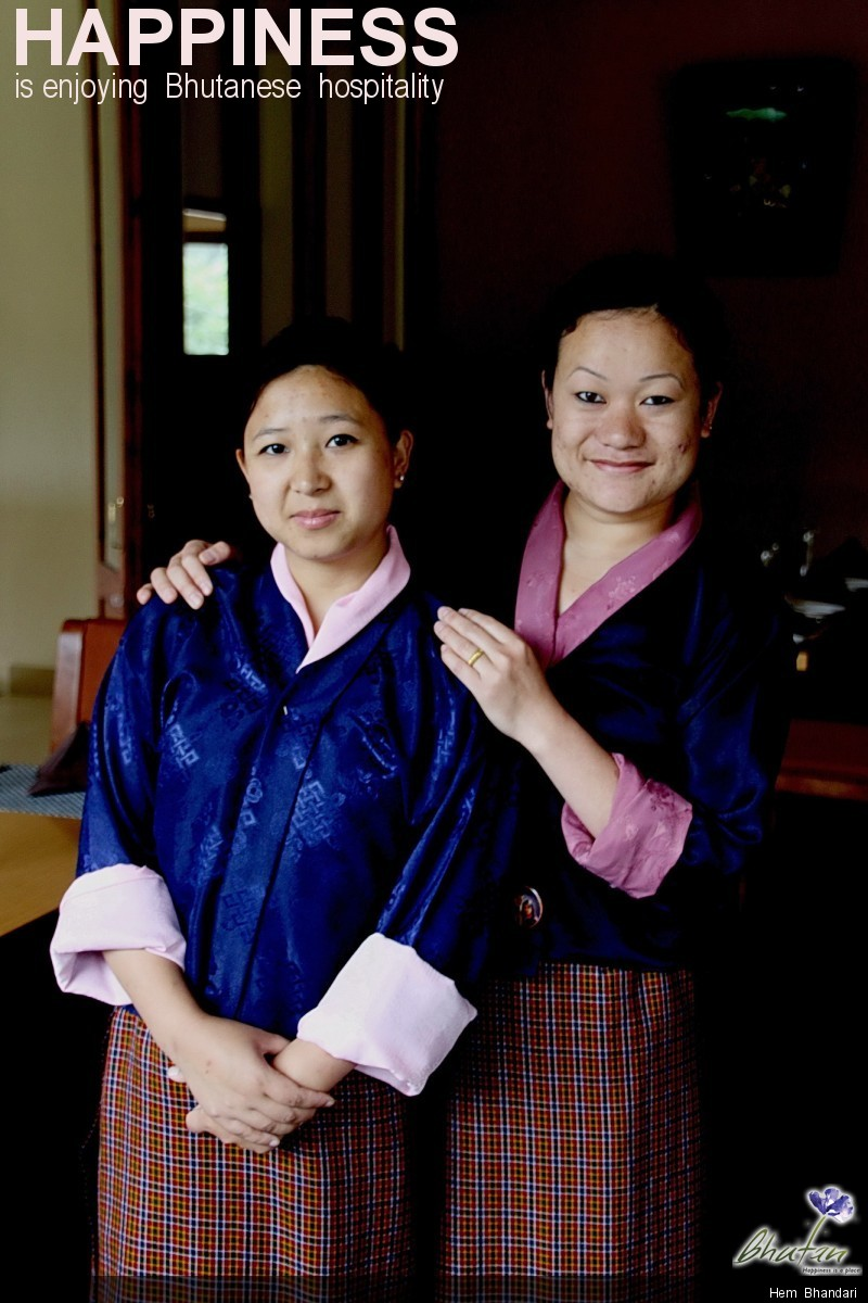 Happiness is enjoying  Bhutanese  hospitality